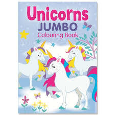 Unicorns Jumbo Colouring Book