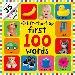 The million-copy bestseller First 100 Words, now with flaps! This must-have for little learners is the ideal tool for teaching new words. There are over 100 eye-catching photographs of food, pets, toys and more that children will recognize from their everyday environment, each with big, bold labels printed underneath. Lift-the-Flaps scattered through add interest and surprises! Lift-the-Flap First 100 Words is a great aid for building vocabulary and teaching sight words.