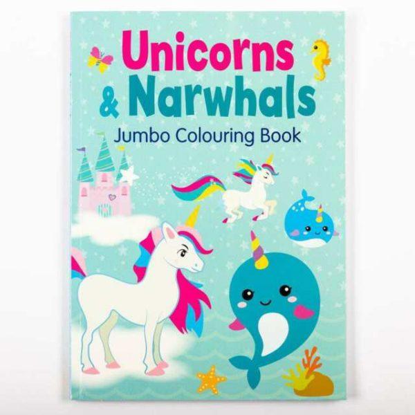 Unicorns & Narwhals Jumbo Colouring Boo